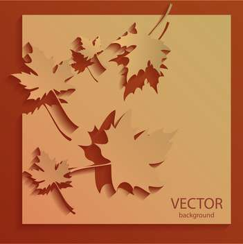 Vector orange autumn background with maple leaves - vector gratuit(e) #129638