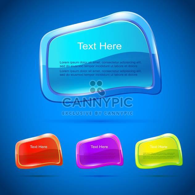 Vektor setzen bunte Banner auf blauem Hintergrund - Free vector #129938