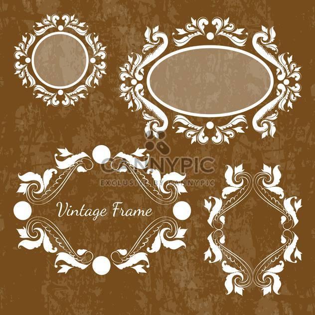Set of vector decorative vintage frames - Free vector #130018