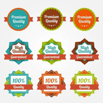 Vector set of vintage colorful labels for sale - vector #130038 gratis