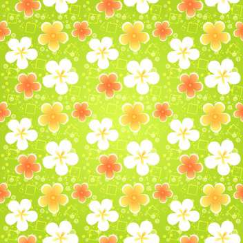 Spring floral seamless pattern with flowers - vector #130068 gratis