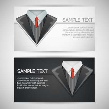 Vector business cards with elegant suit - vector gratuit #130078