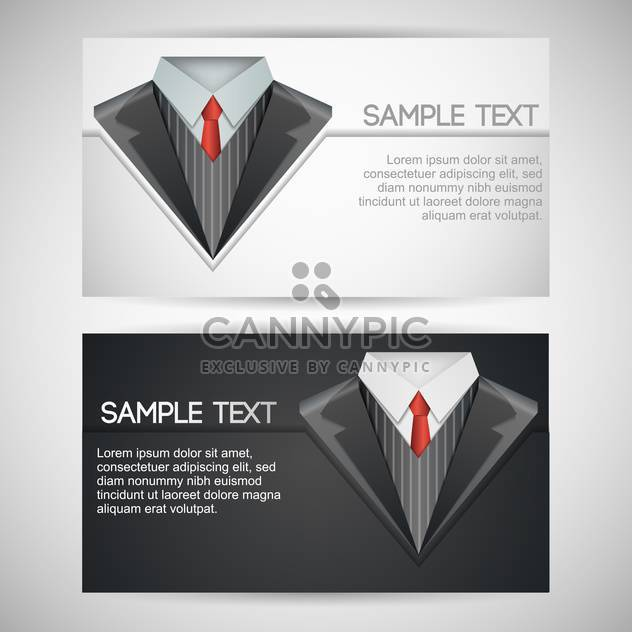 Vector business cards with elegant suit - Free vector #130078