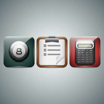 Mobile phone icons on grey background - vector gratuit #130098