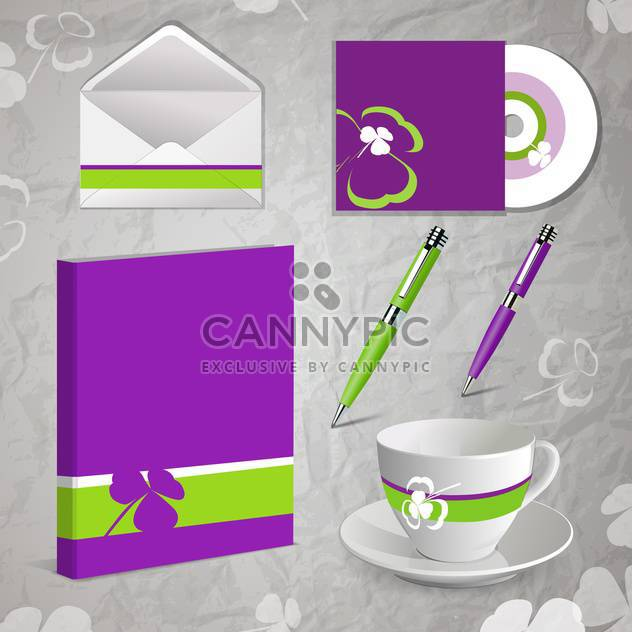 Vector template of business kit - Free vector #130138