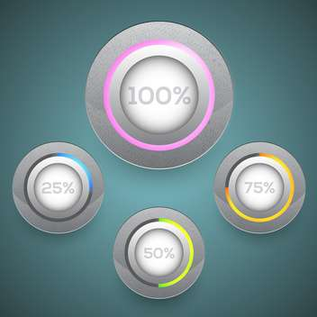 Vector set of loading buttons - vector #130158 gratis
