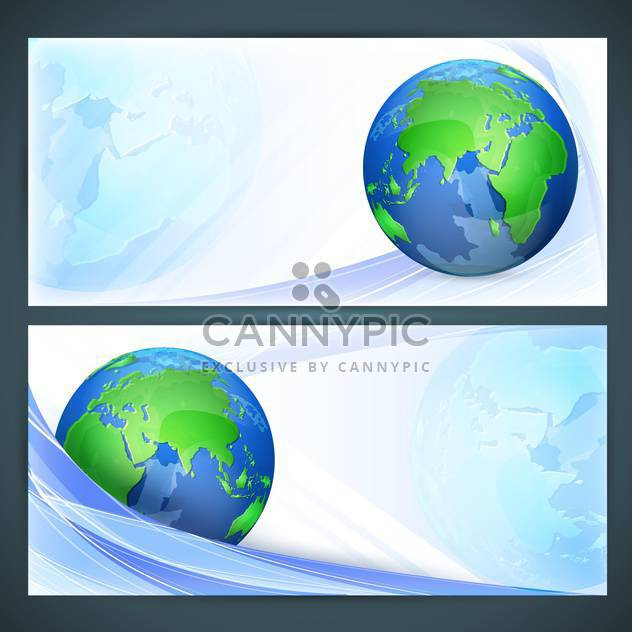 Vector illustration of stylized vector globe - Free vector #130228