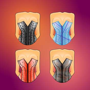 female stylish corsets set - бесплатный vector #130308