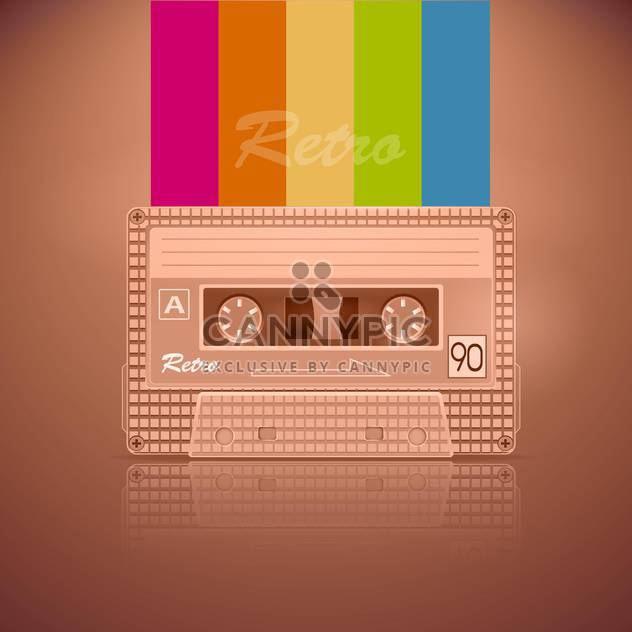 Retro audio-Kassette - Free vector #130338