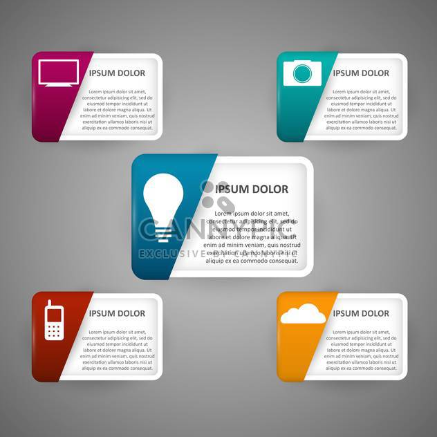 technology icons vector illustration - Free vector #130348