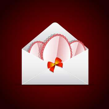 Envelope with postcards and bow on red background - vector gratuit #130408