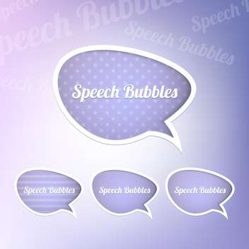Set with speech bubbles with place for text - vector gratuit #130438