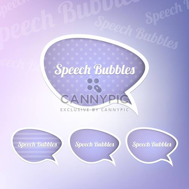 Set with speech bubbles with place for text - Free vector #130438