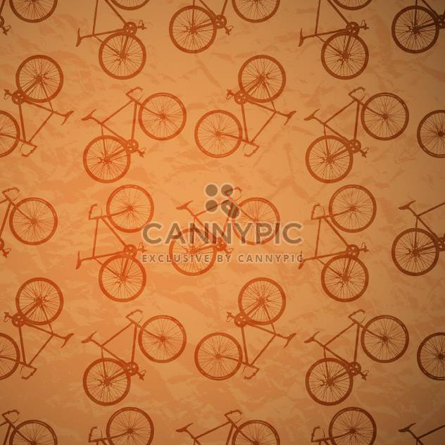 bicycles seamless retro vector pattern - Free vector #130508
