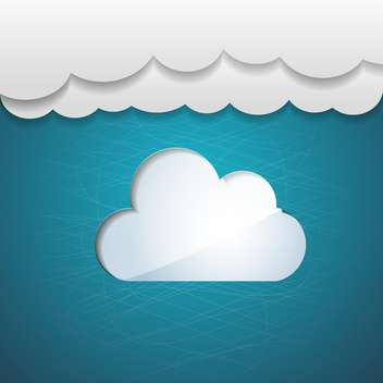 Vector blue sky background with white clouds - vector gratuit #130528