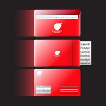 Vector abstract creative business cards on black background - бесплатный vector #130628
