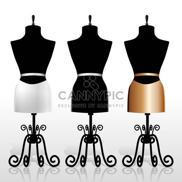 vector illustration of vintage dummies on white background - Free vector #130658