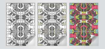 Vector set of art banners - Free vector #130678