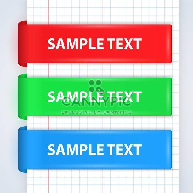 Vektor-Reihe von bunten Bändern Wih Text Platz - Kostenloses vector #130728
