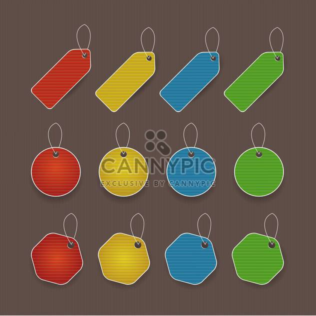 vector illustration of colored promo tags with text place - Free vector #130758