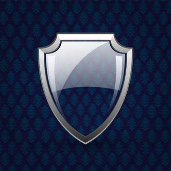Vector glassy shield on dark background - vector gratuit #130798
