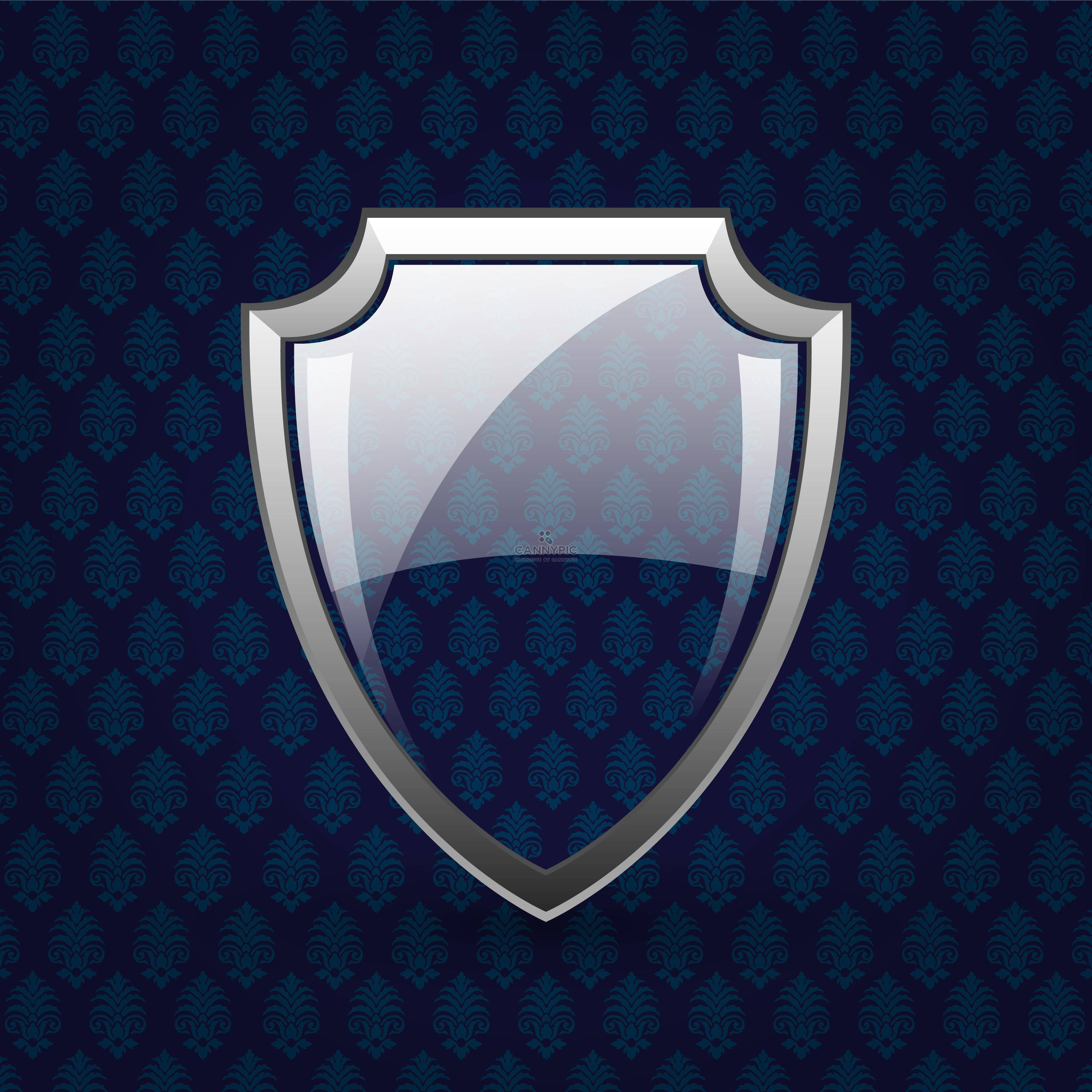 Vector glassy shield on dark background - Free vector #130798