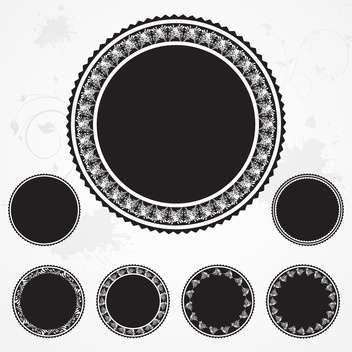 Vintage black lace badges - vector gratuit(e) #130808