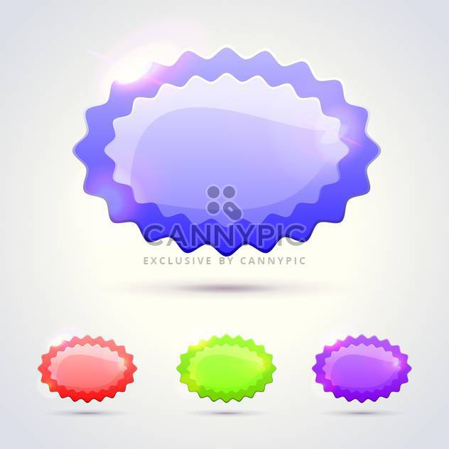 Vector glossy banners with text place - Free vector #130818