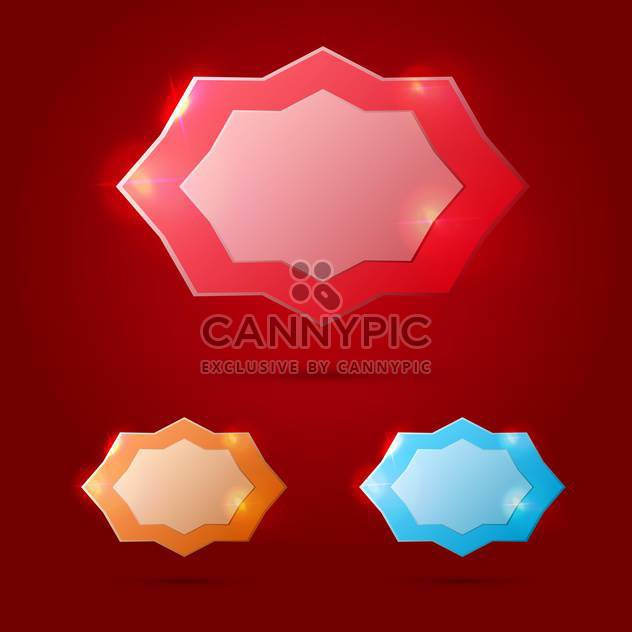 Vector glossy banners on red background - Free vector #130828