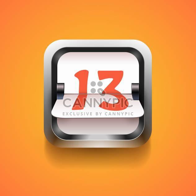 Mechanische Anzeiger Nummer auf orangefarbenen Hintergrund - Kostenloses vector #130838