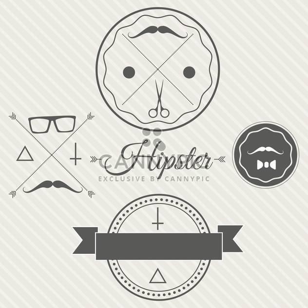 Hipster Stil Hintergrund mit Etiketten und Anhänger - Free vector #130888