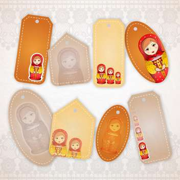 matryoshka banners vector illustration - vector gratuit #130968