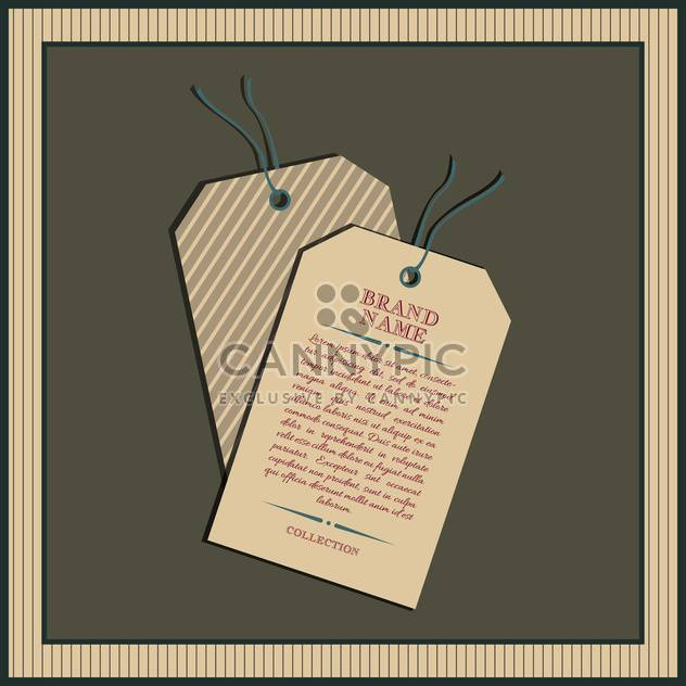 Vector collection of vintage and retro labels - Free vector #131018