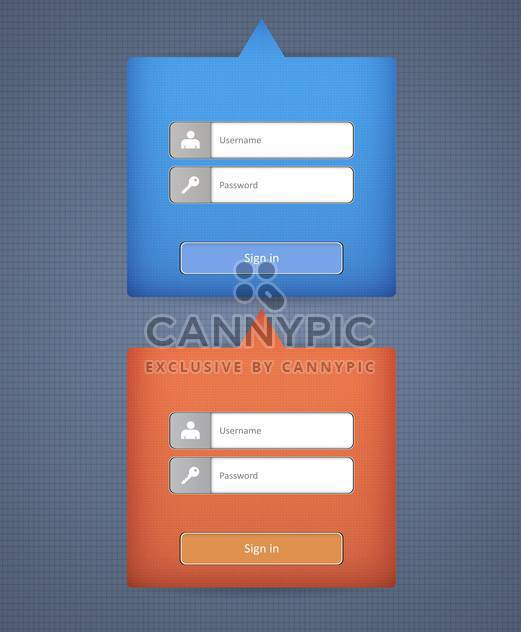 Vector template login form for web design - Free vector #131048