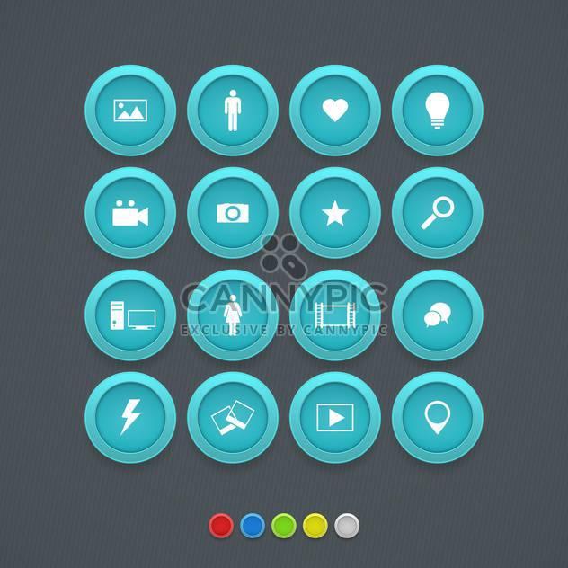 Computer und Internet Web-Symbole-Buttons festlegen - Kostenloses vector #131058