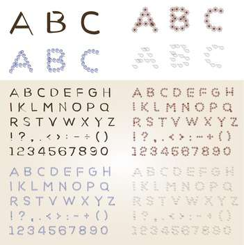 Set of different vector fonts - Kostenloses vector #131218