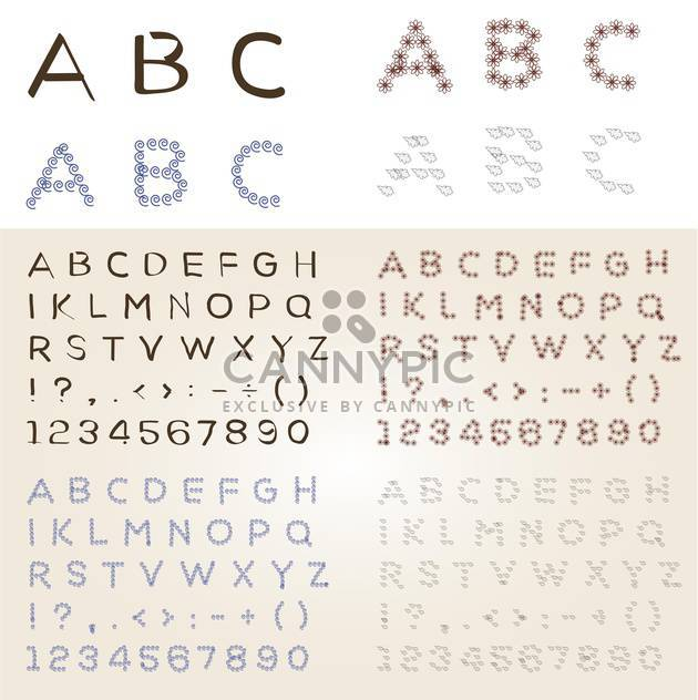 Set of different vector fonts - Free vector #131218