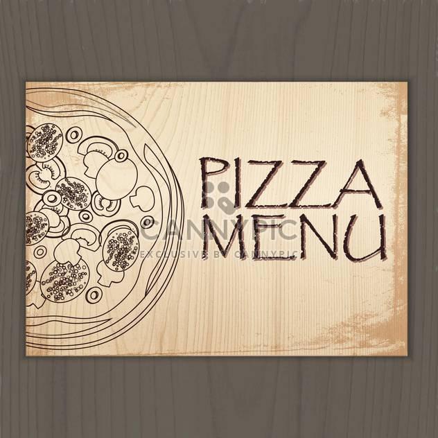 Im Menü Gestaltung mit Pizza-Vektor-illustration - Kostenloses vector #131238