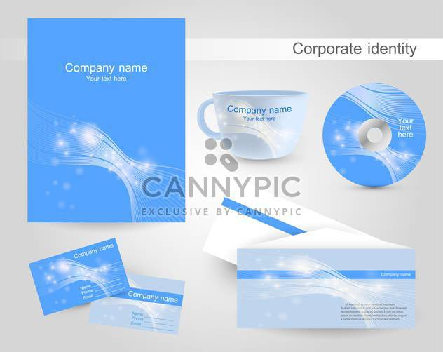 Set of templates corporate identity - Free vector #131268