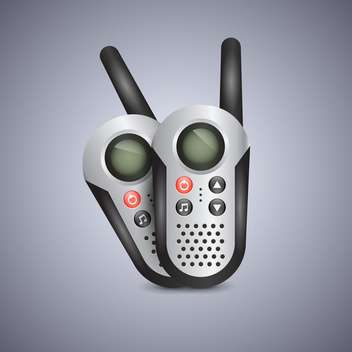 Vector illustration of generic set of walkie talkies - vector gratuit #131298