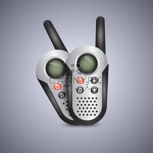 Vector illustration of generic set of walkie talkies - Free vector #131298