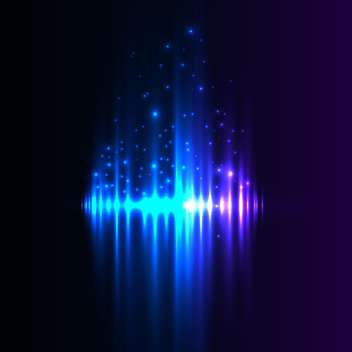 Blue aurora borealis background - vector gratuit #131348