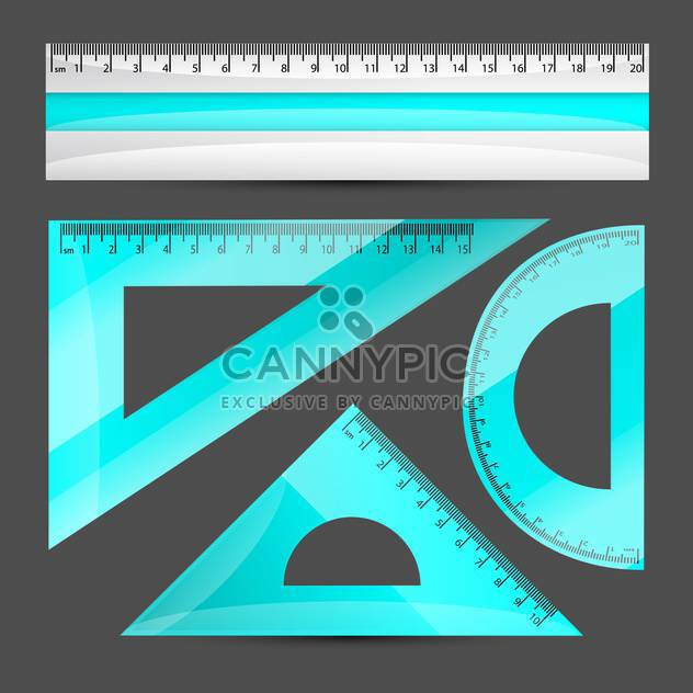 Rulers vector set on dark grey background - Free vector #131368