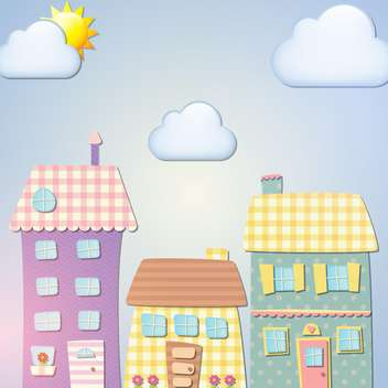 Old cartoon city background vector illustration - Free vector #131388