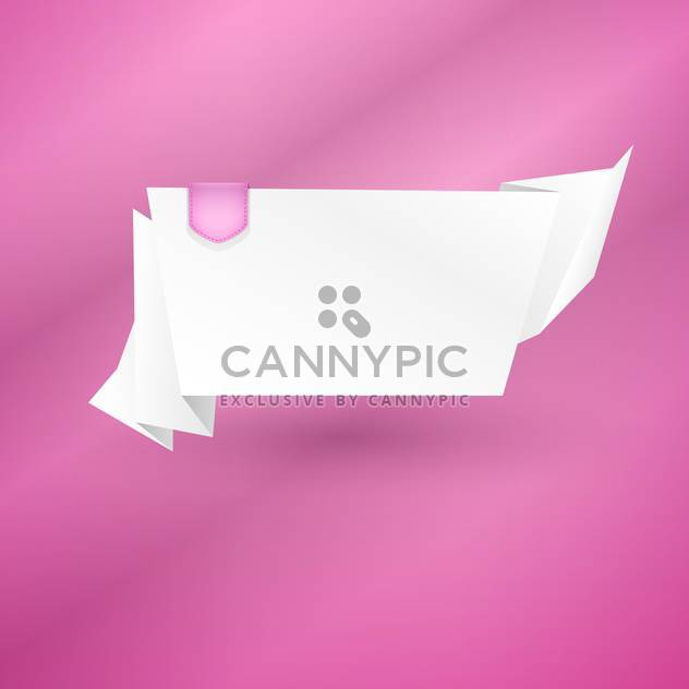 Abstract origami speech bubble vector background - Free vector #131408
