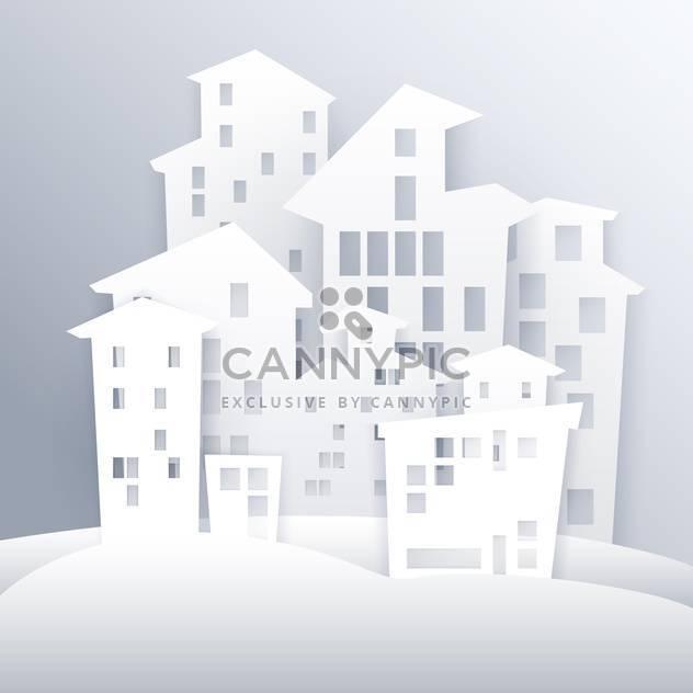 Cartoon white city vector illustration - Free vector #131428