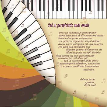 Musical background with piano keyboard - vector gratuit #131438
