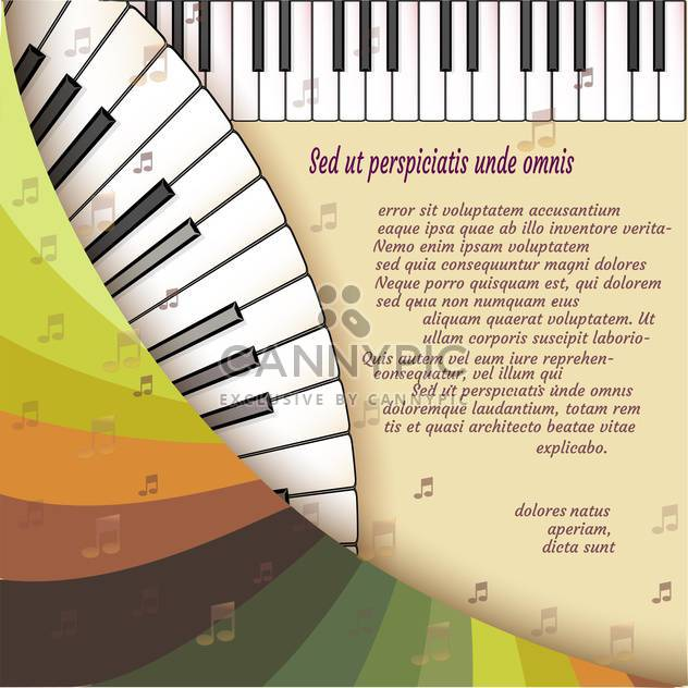 Musical background with piano keyboard - Free vector #131438