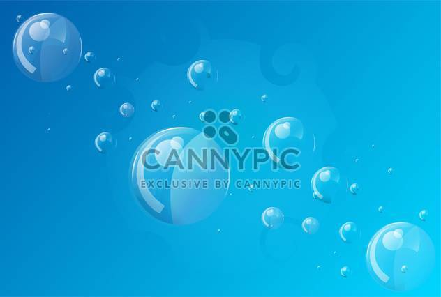 Abstract blue bubbles background - Free vector #131448