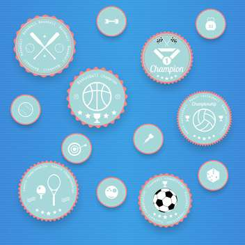 Sports vintage badges and labels - vector gratuit #131568